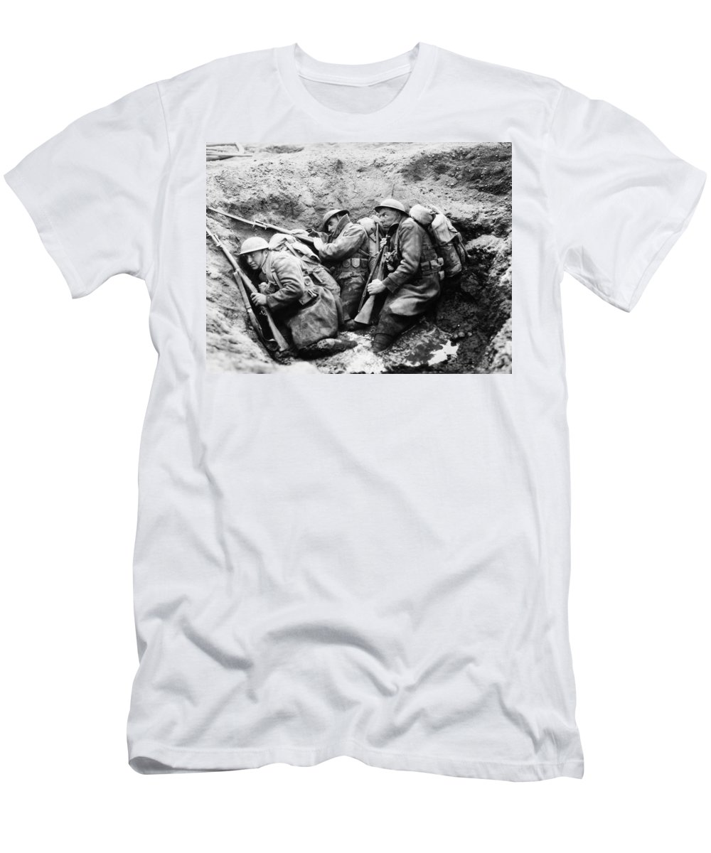 -wars And Warfare- Men's T-Shirt (Athletic Fit) featuring the photograph Film: Big Parade, 1925 by Granger