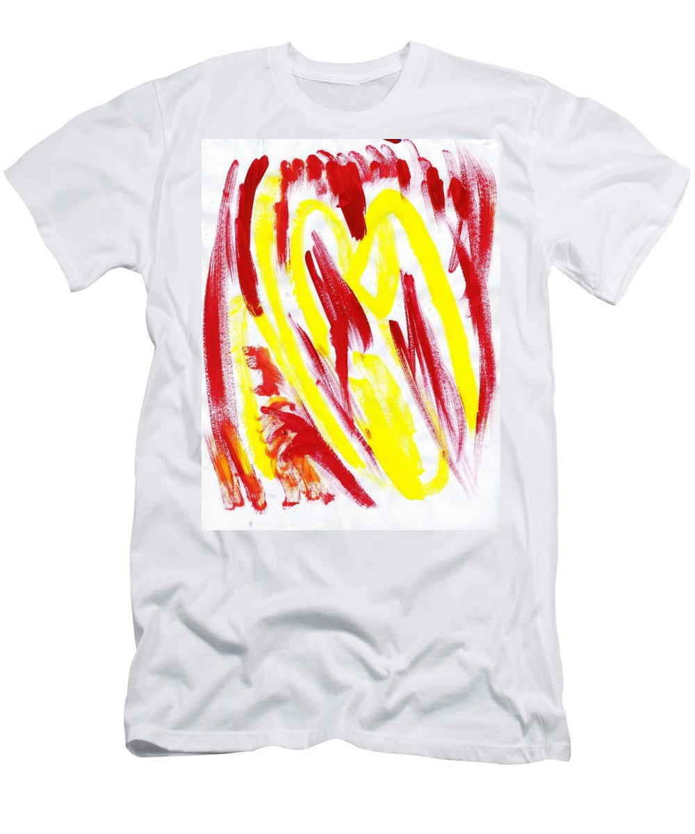 Fire Runner Men's T-Shirt (Athletic Fit) featuring the painting Fire Runner by Taylor Webb