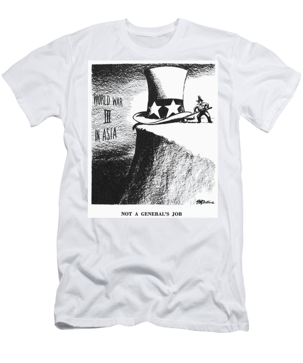 1951 Men's T-Shirt (Athletic Fit) featuring the photograph Firing Of Macarthur, 1951 by Granger