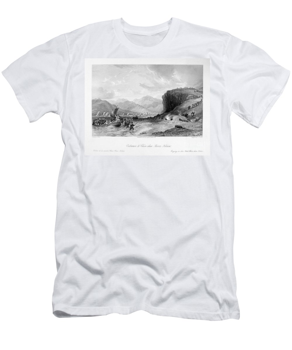 1841 Men's T-Shirt (Athletic Fit) featuring the photograph First Opium War, C1841 by Granger