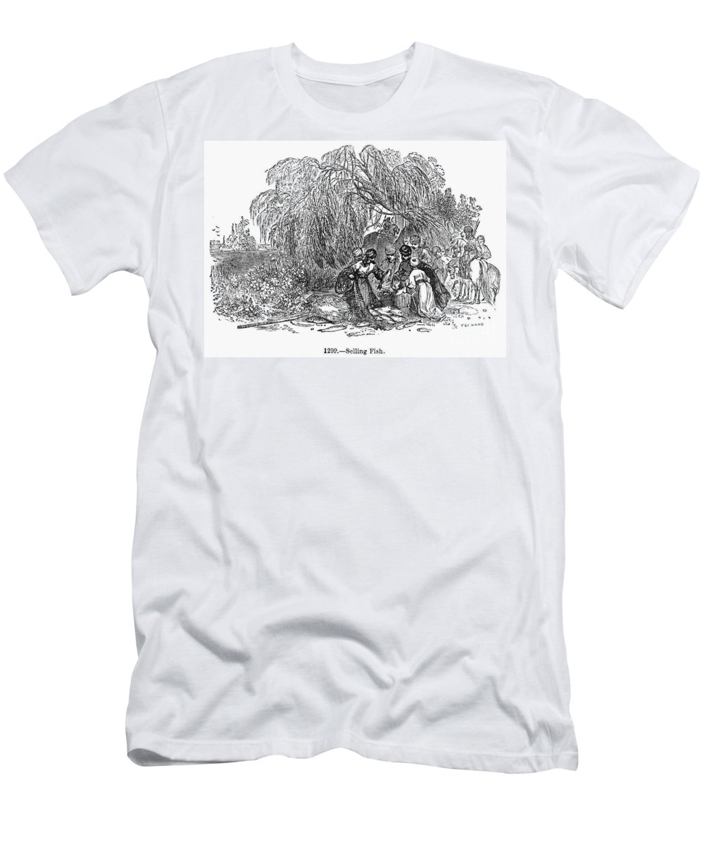 1st Century Men's T-Shirt (Athletic Fit) featuring the photograph Fish Market, 1st Century by Granger