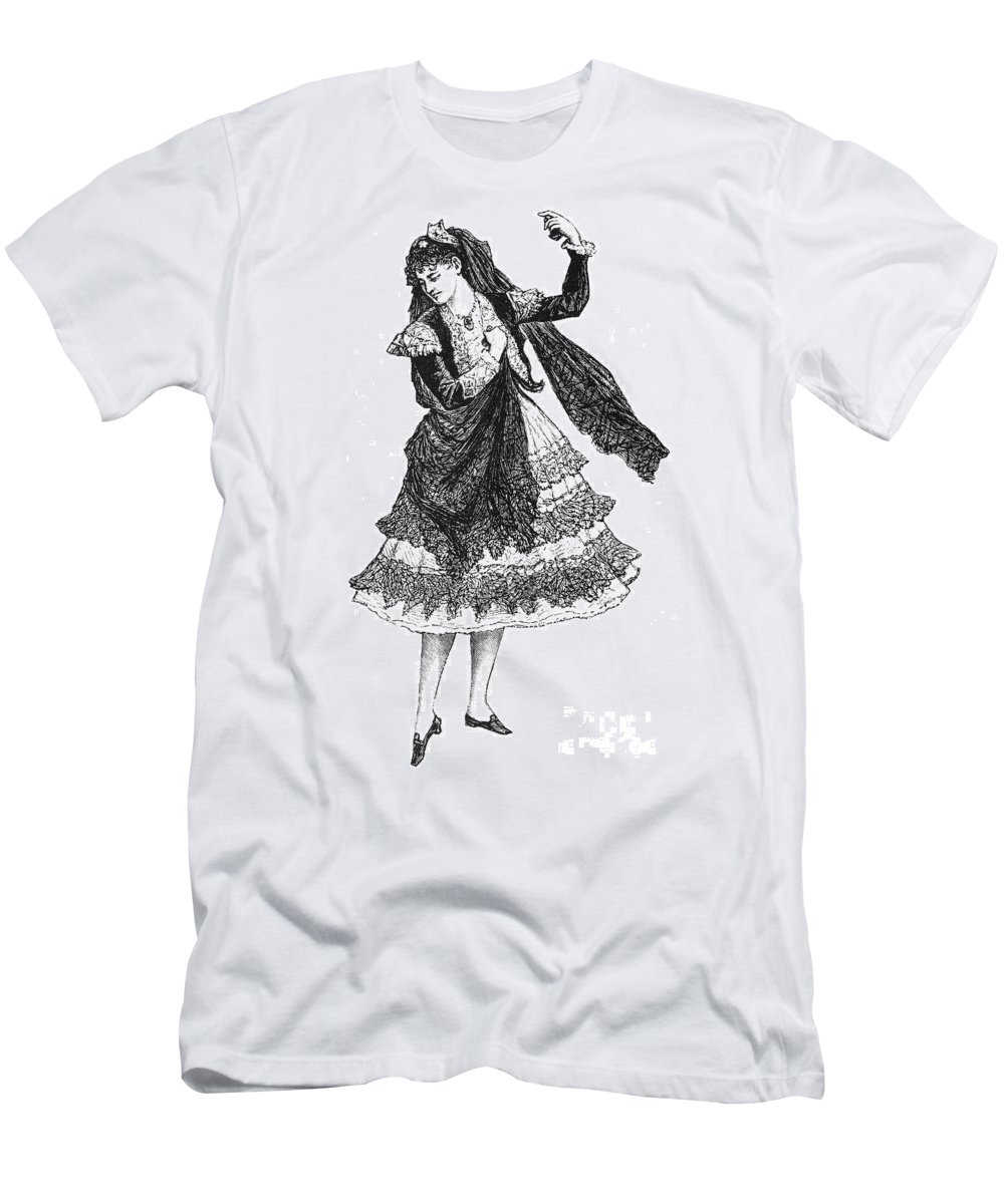 19th Century Men's T-Shirt (Athletic Fit) featuring the photograph Flamenco Dancer by Granger