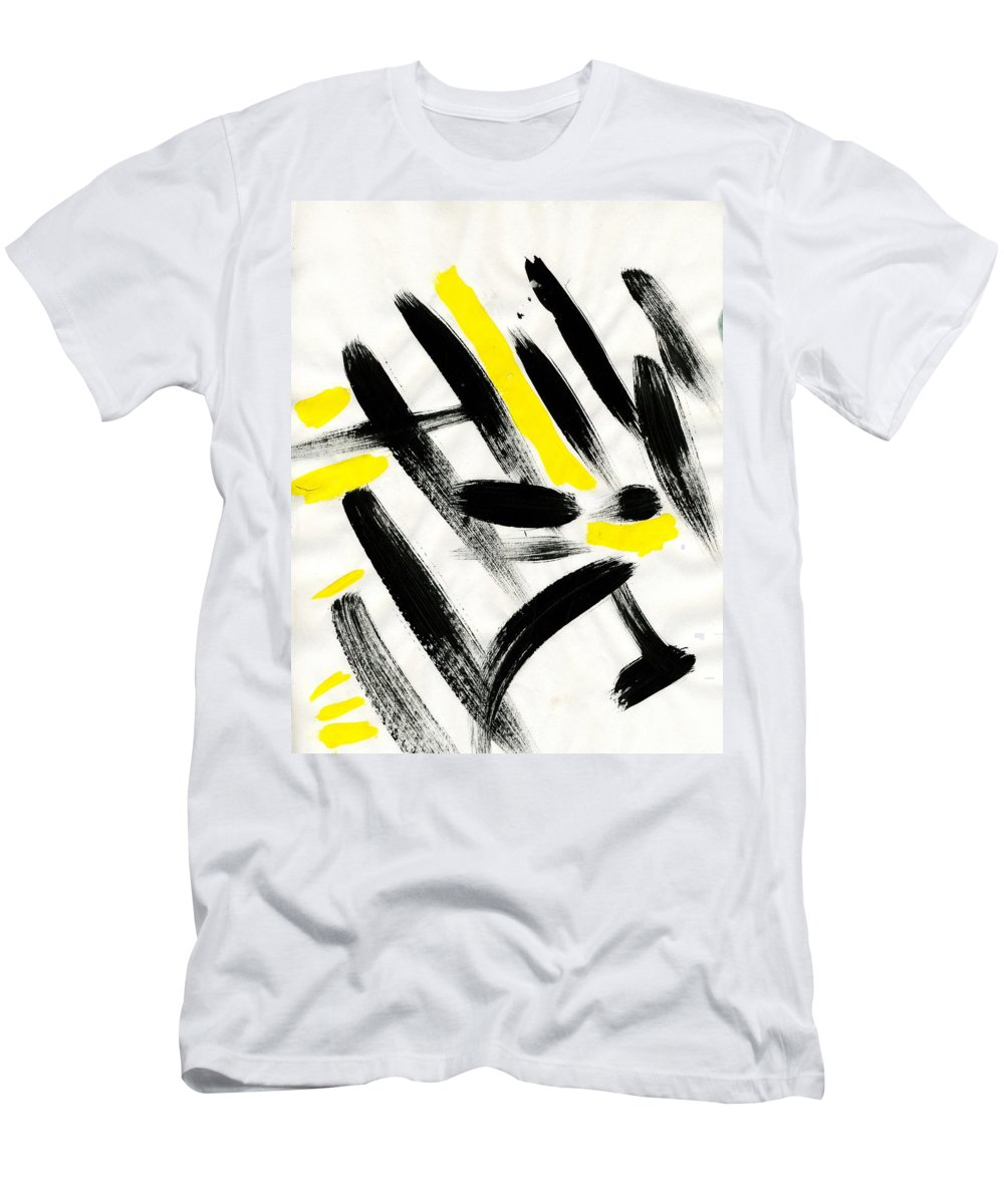 Flash Men's T-Shirt (Athletic Fit) featuring the painting Flash by Taylor Webb