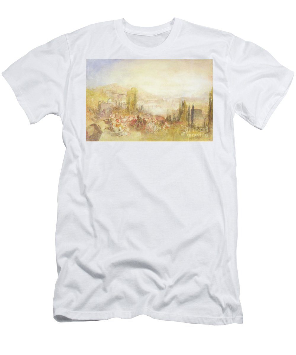 Florence Men's T-Shirt (Athletic Fit) featuring the painting Florence by Joseph Mallord William Turner