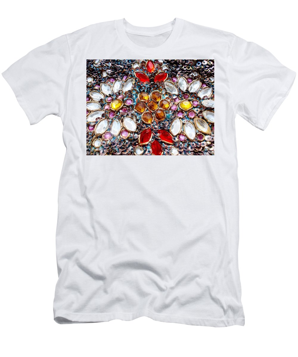 Blossoming Men's T-Shirt (Athletic Fit) featuring the photograph Flower Of Beads by Sumit Mehndiratta