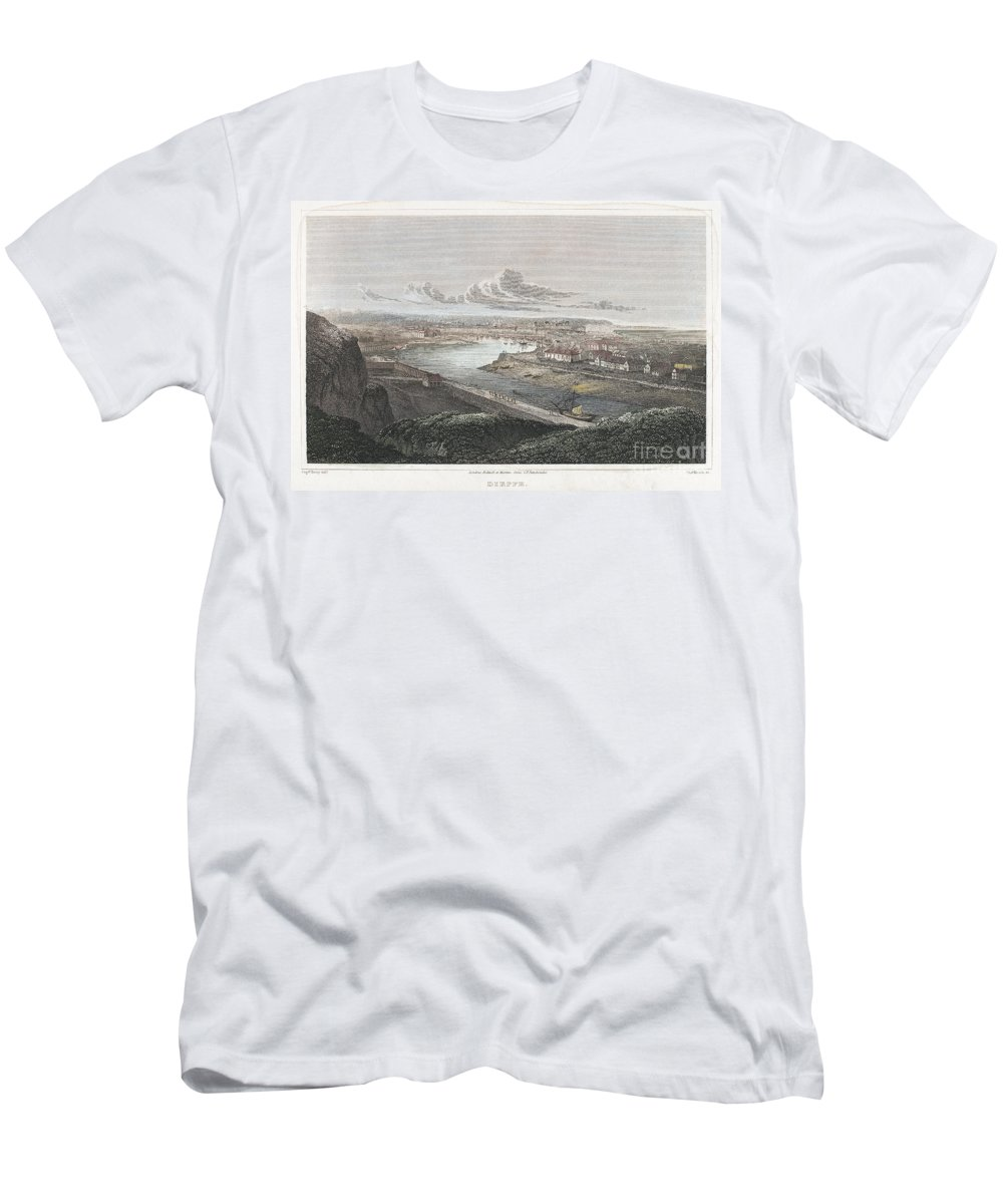 1822 Men's T-Shirt (Athletic Fit) featuring the photograph France: Dieppe, 1822 by Granger