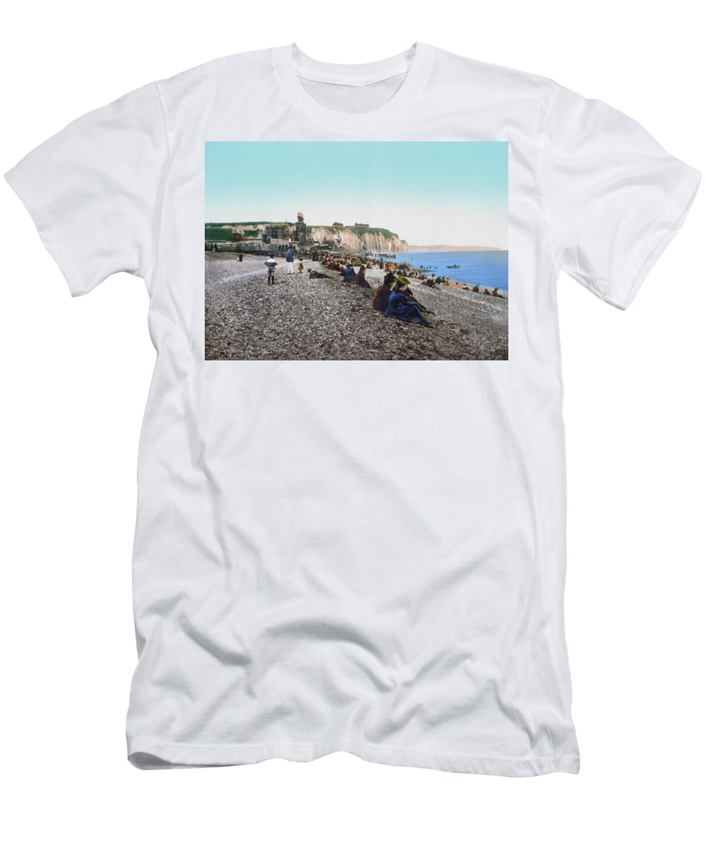 1895 Men's T-Shirt (Athletic Fit) featuring the photograph France: Resort, C1895 by Granger