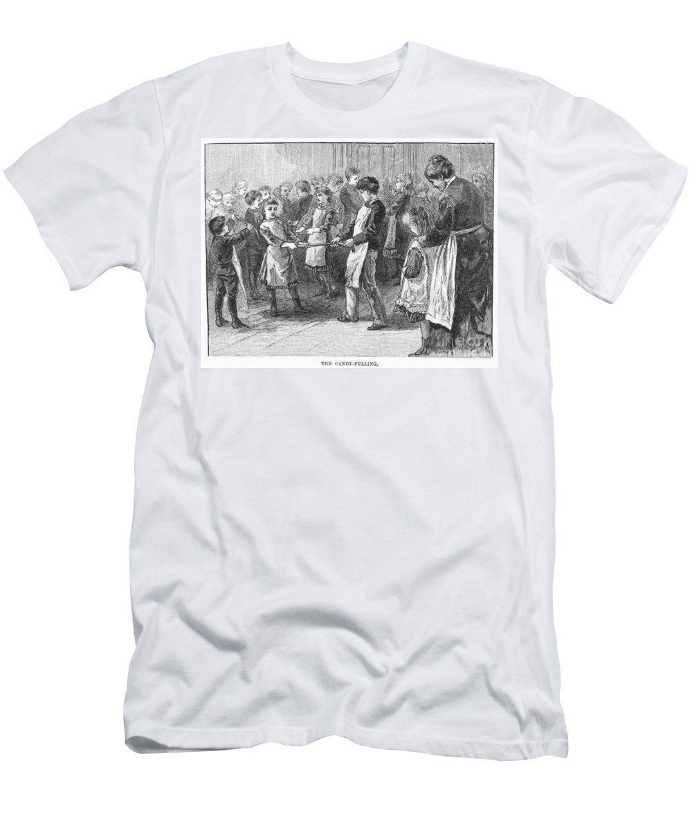 19th Century Men's T-Shirt (Athletic Fit) featuring the photograph Games: Candy Pulling by Granger