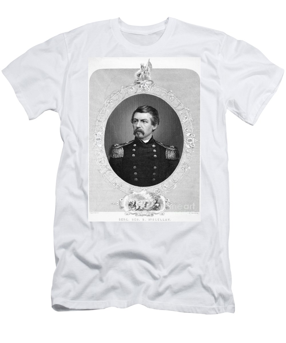 1862 Men's T-Shirt (Athletic Fit) featuring the photograph George Brinton Mcclellan by Granger