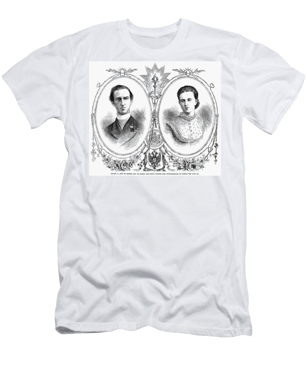 1867 Men's T-Shirt (Athletic Fit) featuring the photograph George I (1845-1913) by Granger