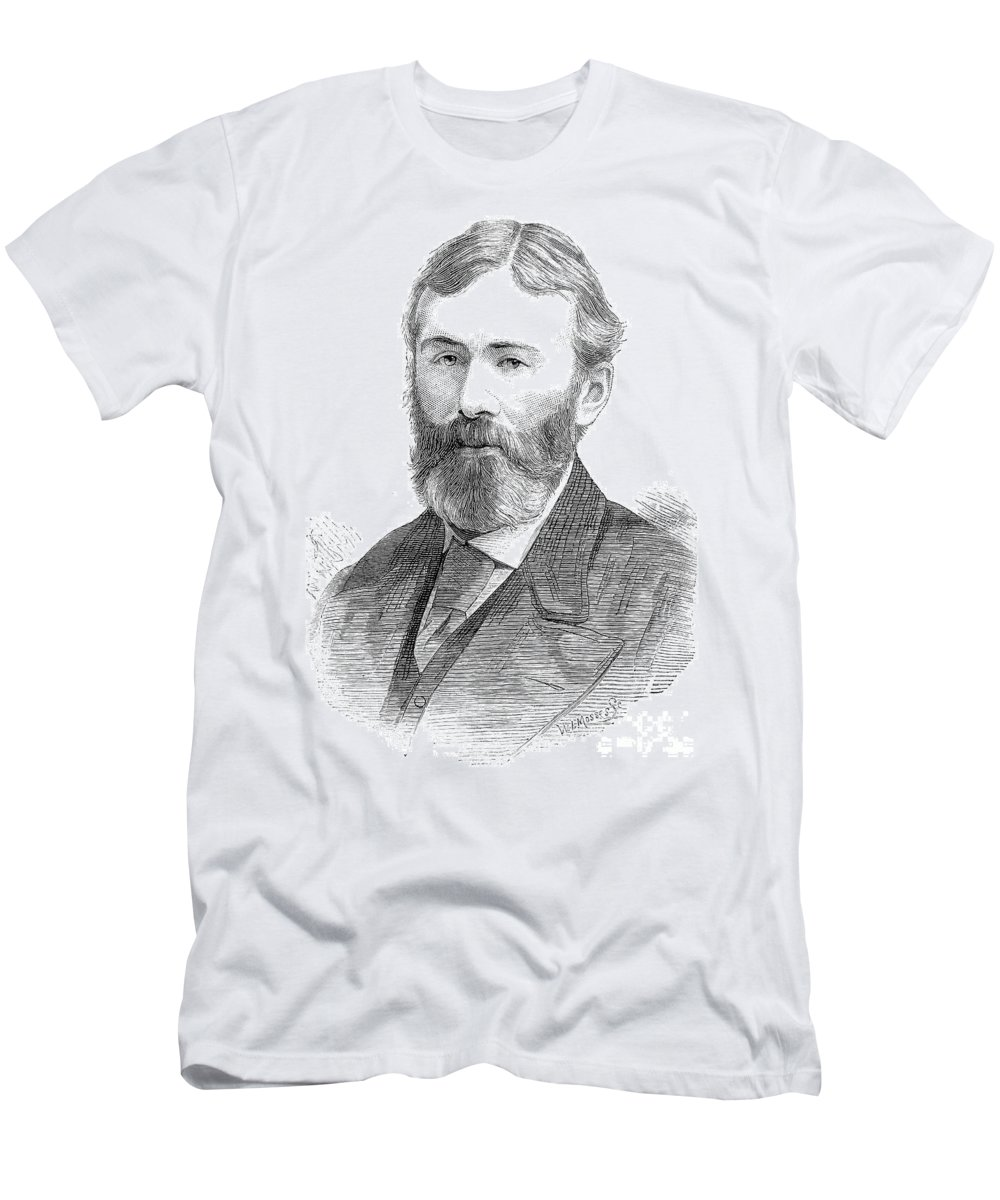 19th Century Men's T-Shirt (Athletic Fit) featuring the photograph George Otto Trevelyan by Granger
