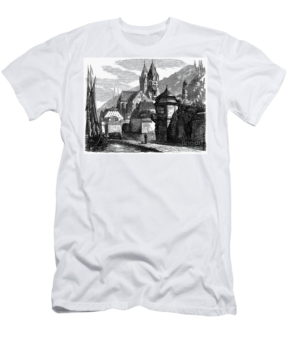 1870 Men's T-Shirt (Athletic Fit) featuring the photograph Germany: W�rzburg by Granger