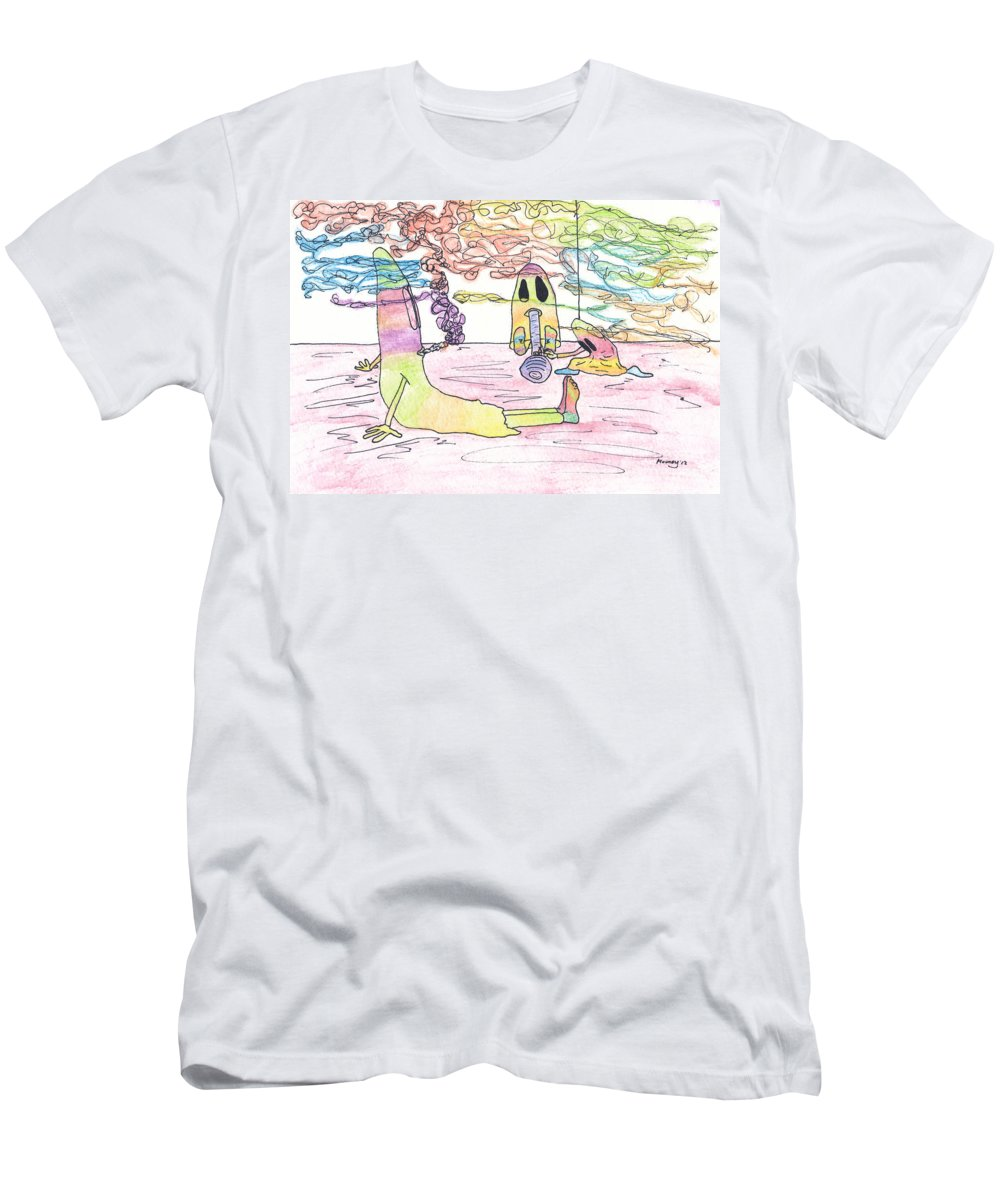 Halloween Art Men's T-Shirt (Athletic Fit) featuring the photograph Getting Ready To Scare by Michael Mooney