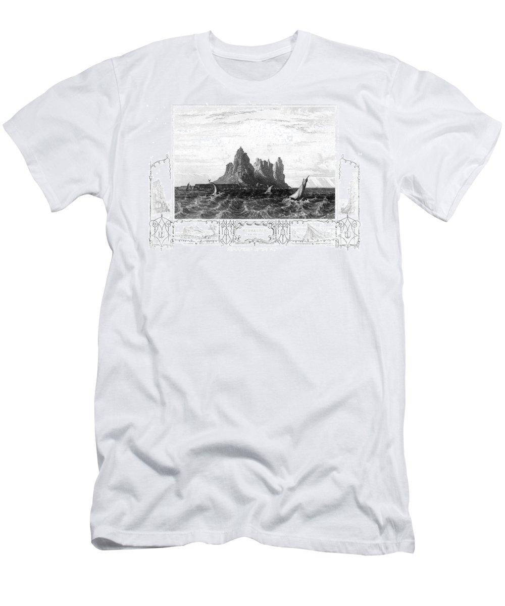 19th Century Men's T-Shirt (Athletic Fit) featuring the photograph Gibraltar, 19th Century by Granger