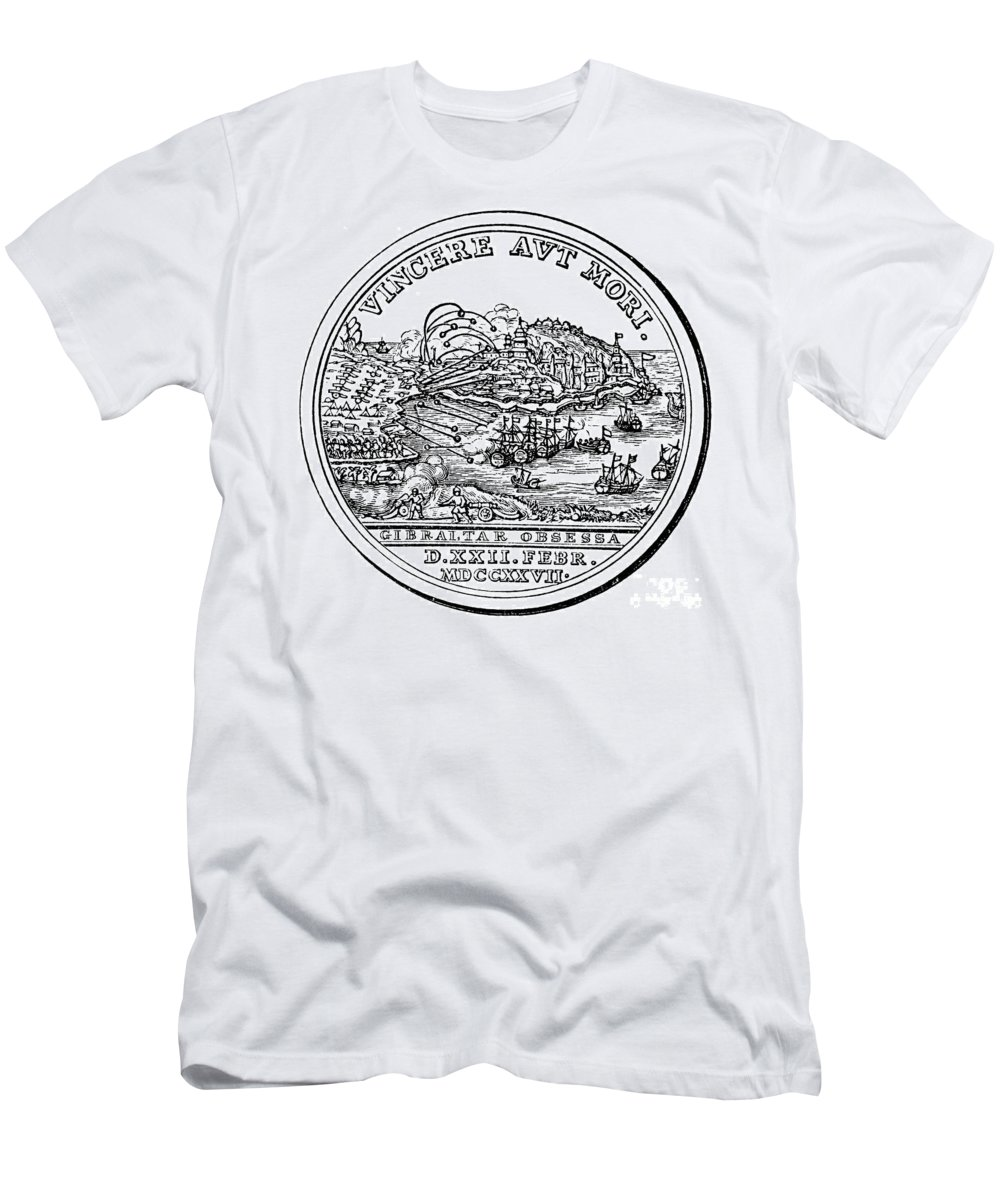 1727 Men's T-Shirt (Athletic Fit) featuring the photograph Gibraltar: Medal, 1727 by Granger