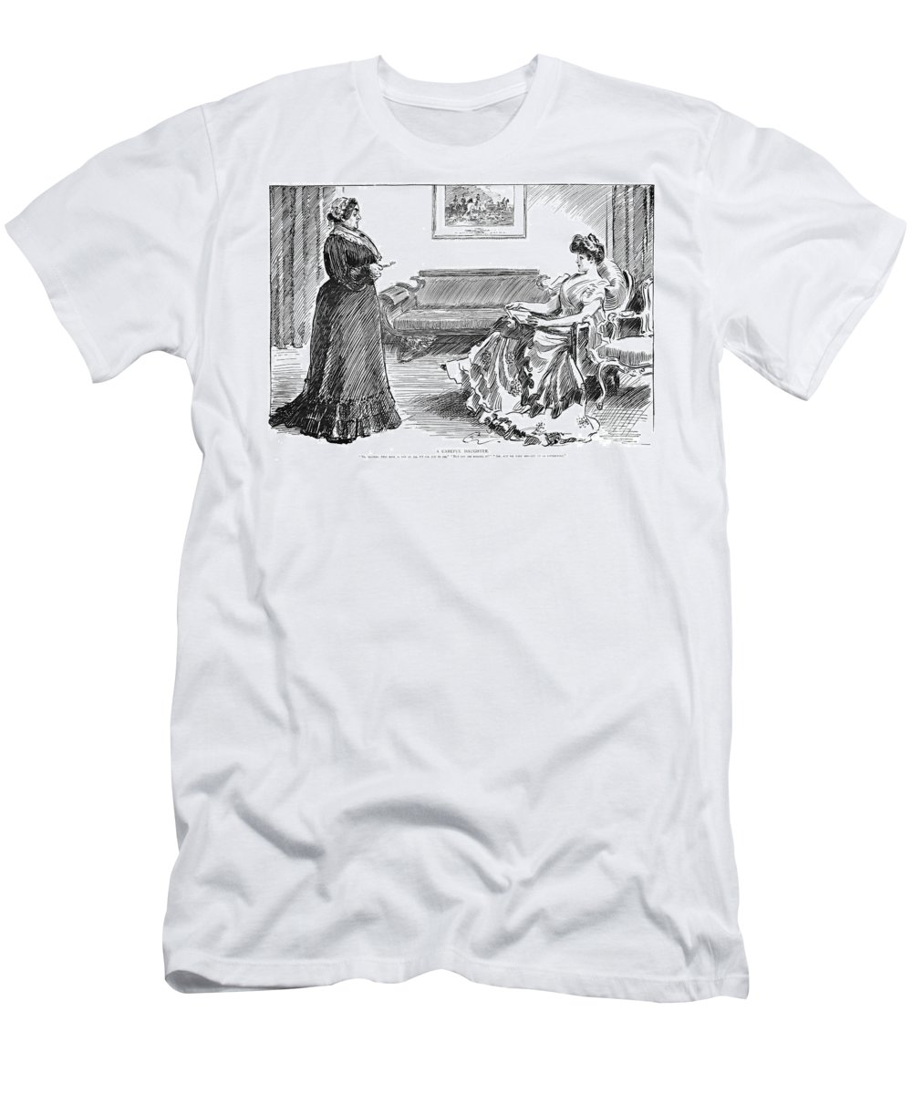 1904 Men's T-Shirt (Athletic Fit) featuring the photograph Gibson: A Careful Daughter by Granger