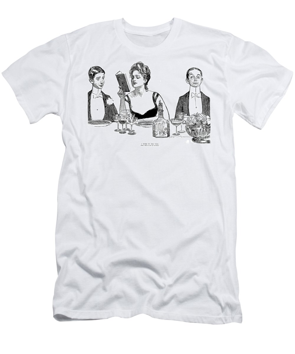1900 Men's T-Shirt (Athletic Fit) featuring the photograph Gibson: A Word To The Wise by Granger