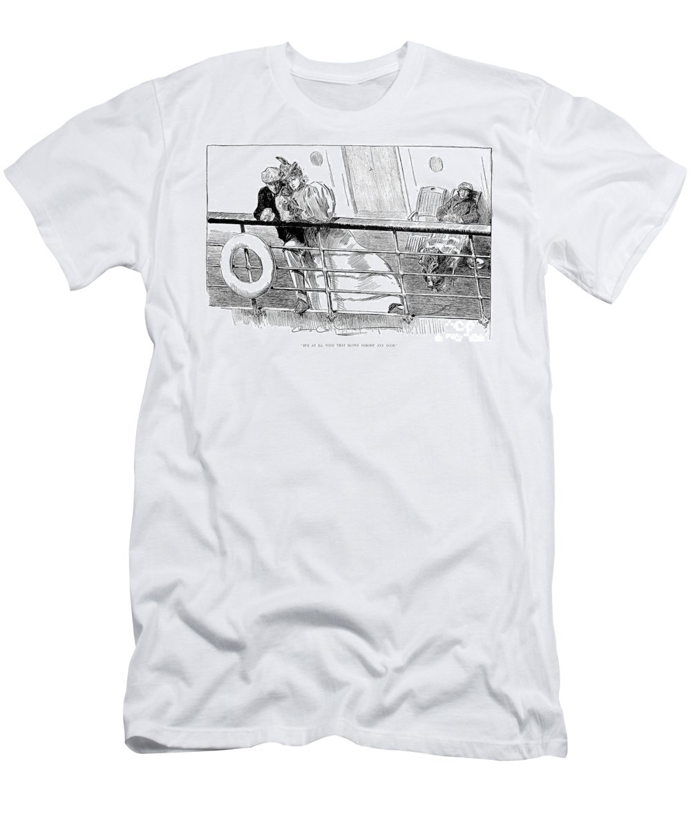 1897 Men's T-Shirt (Athletic Fit) featuring the photograph Gibson An Ill Wind, 1897 by Granger