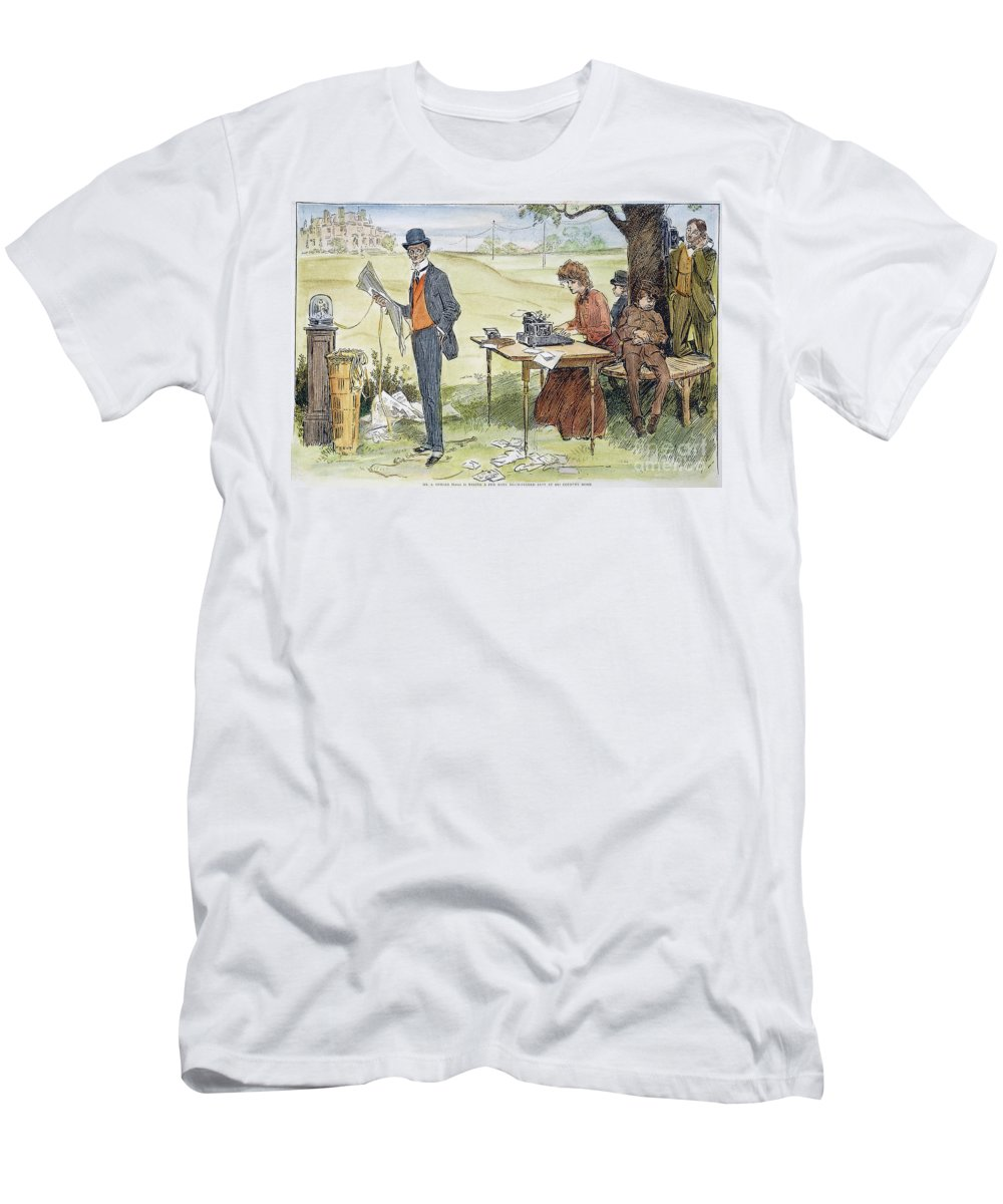 1903 Men's T-Shirt (Athletic Fit) featuring the photograph Gibson Art, 1903 by Granger