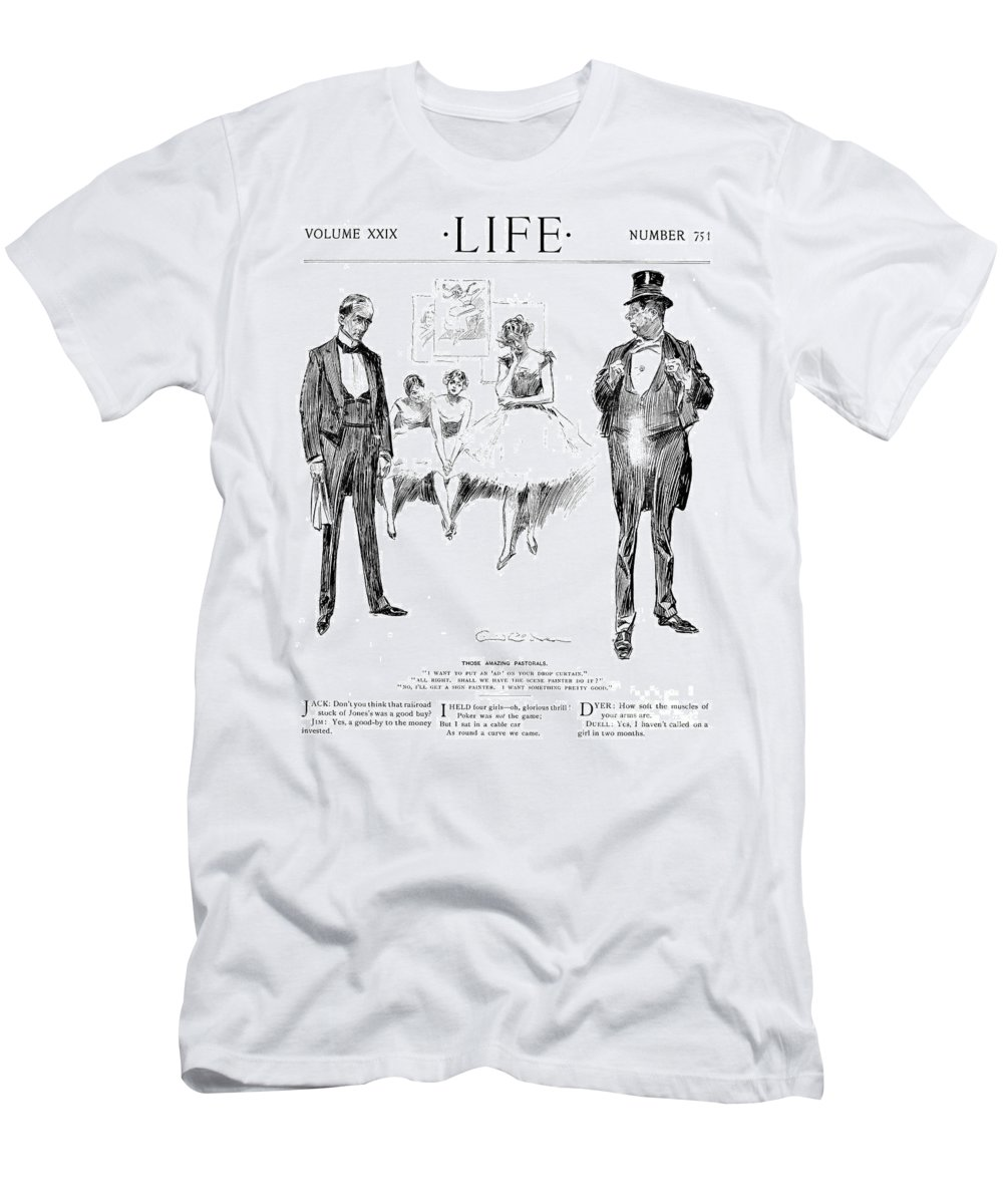 1897 Men's T-Shirt (Athletic Fit) featuring the photograph Gibson: Drawings, 1897 by Granger