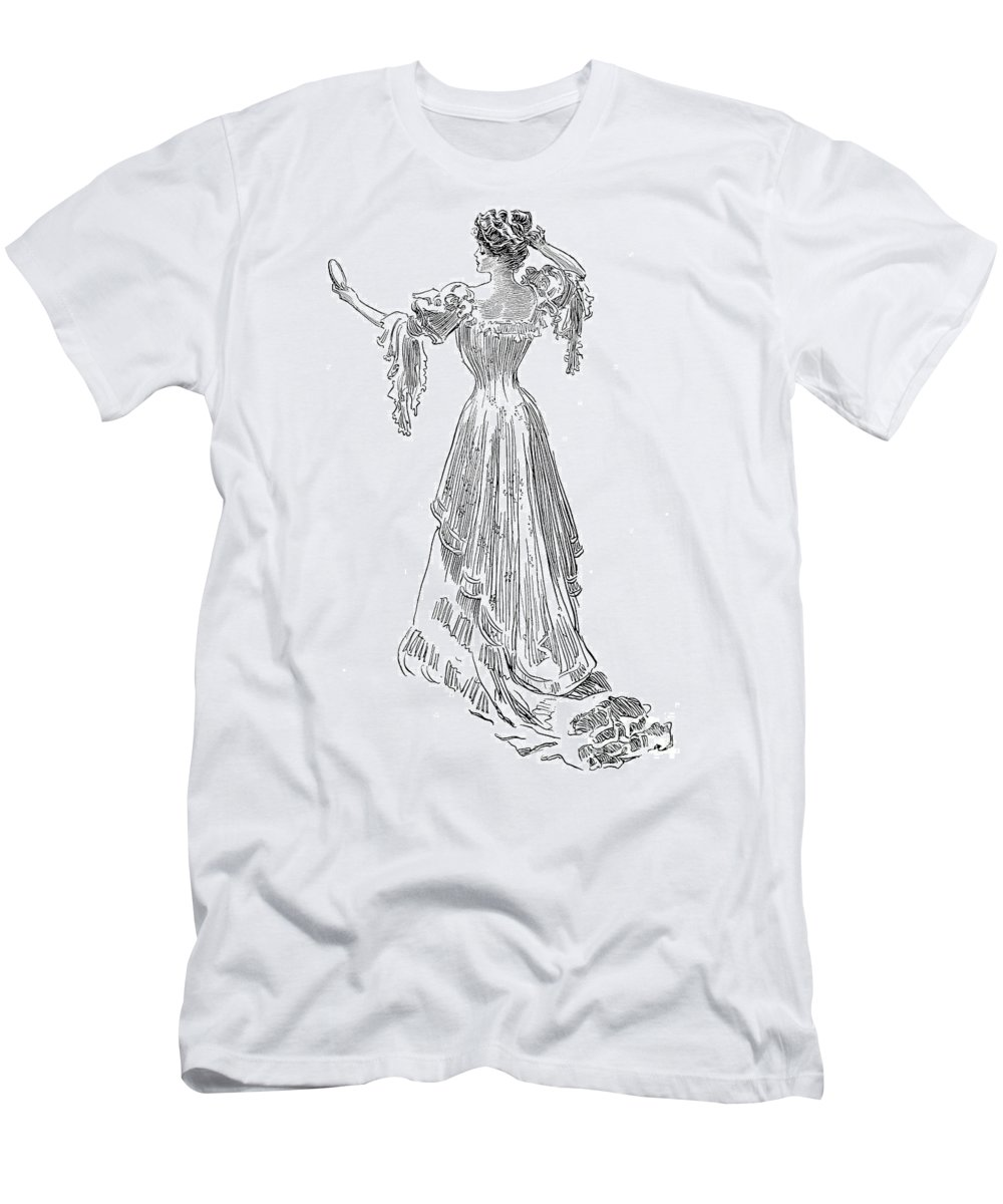 1903 Men's T-Shirt (Athletic Fit) featuring the photograph Gibson: Gibson Girl, 1903 by Granger