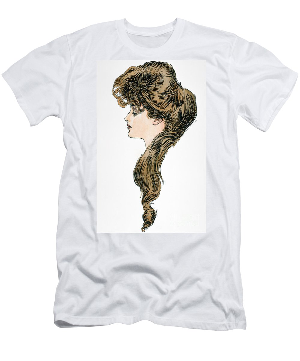 1903 Men's T-Shirt (Athletic Fit) featuring the photograph Gibson Girl, 1903 by Granger