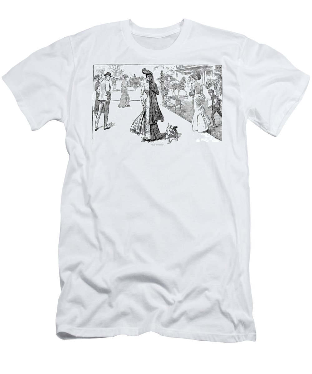 1908 Men's T-Shirt (Athletic Fit) featuring the photograph Gibson: Half Mourning by Granger