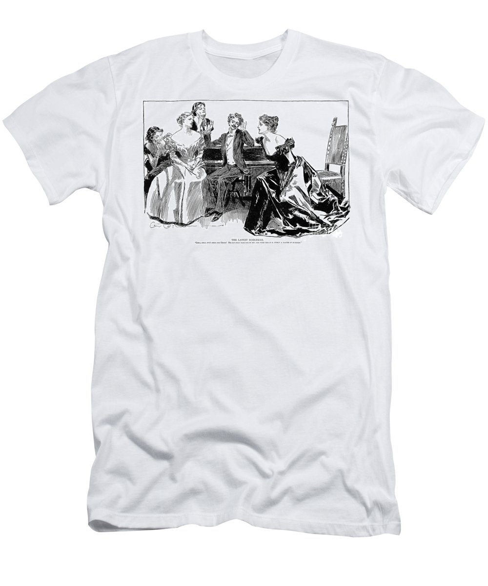 1898 Men's T-Shirt (Athletic Fit) featuring the photograph Gibson: Latest Nobleman by Granger