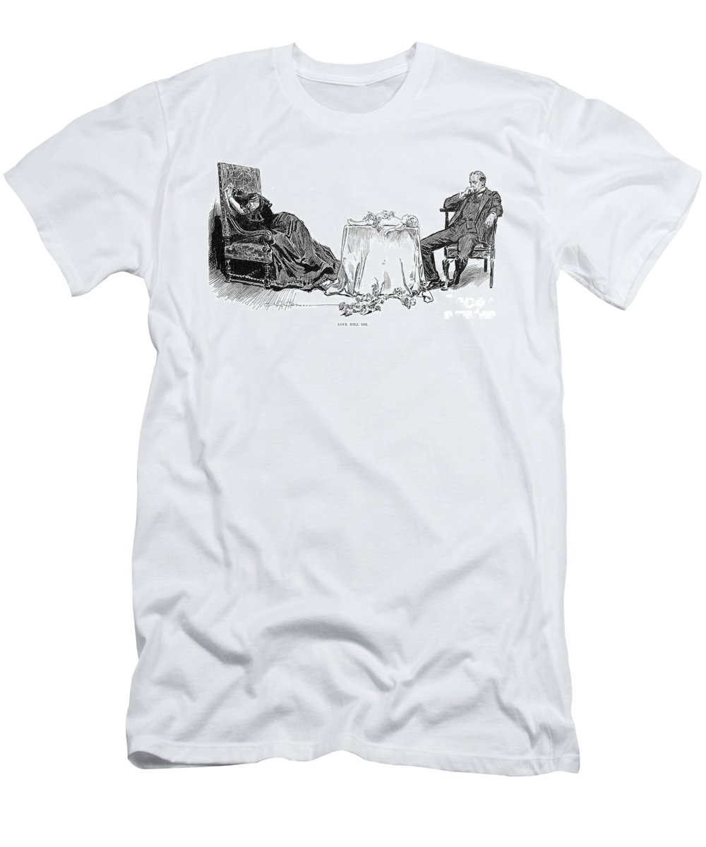 1894 Men's T-Shirt (Athletic Fit) featuring the photograph Gibson: Love Will Die, 1894 by Granger