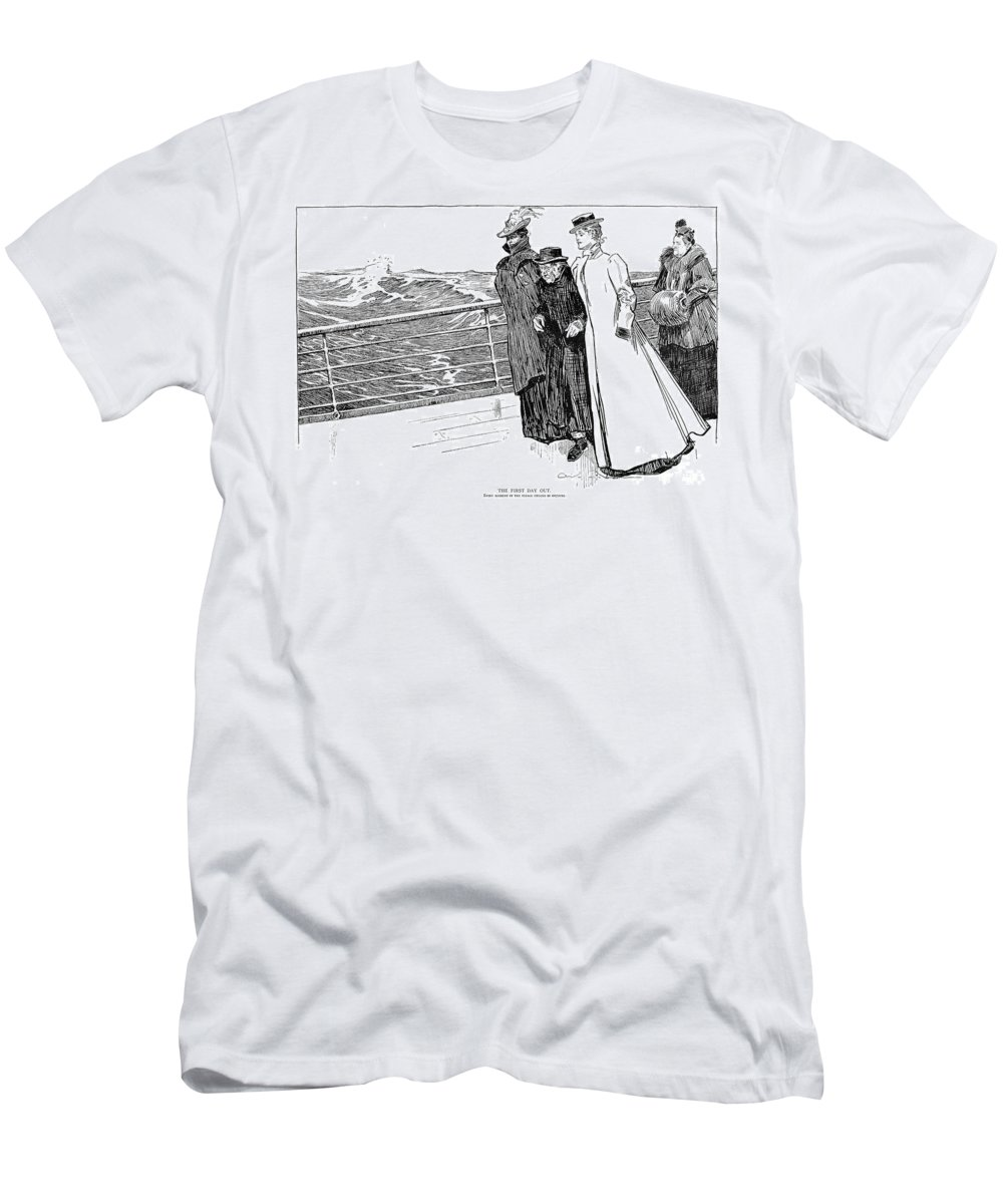 1898 Men's T-Shirt (Athletic Fit) featuring the photograph Gibson: The First Day Out by Granger