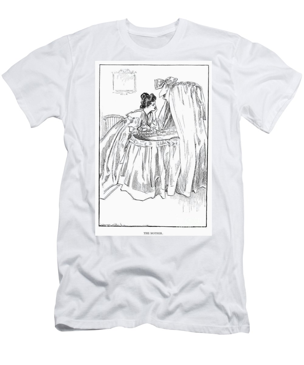 1899 Men's T-Shirt (Athletic Fit) featuring the photograph Gibson: The Mother, 1899 by Granger