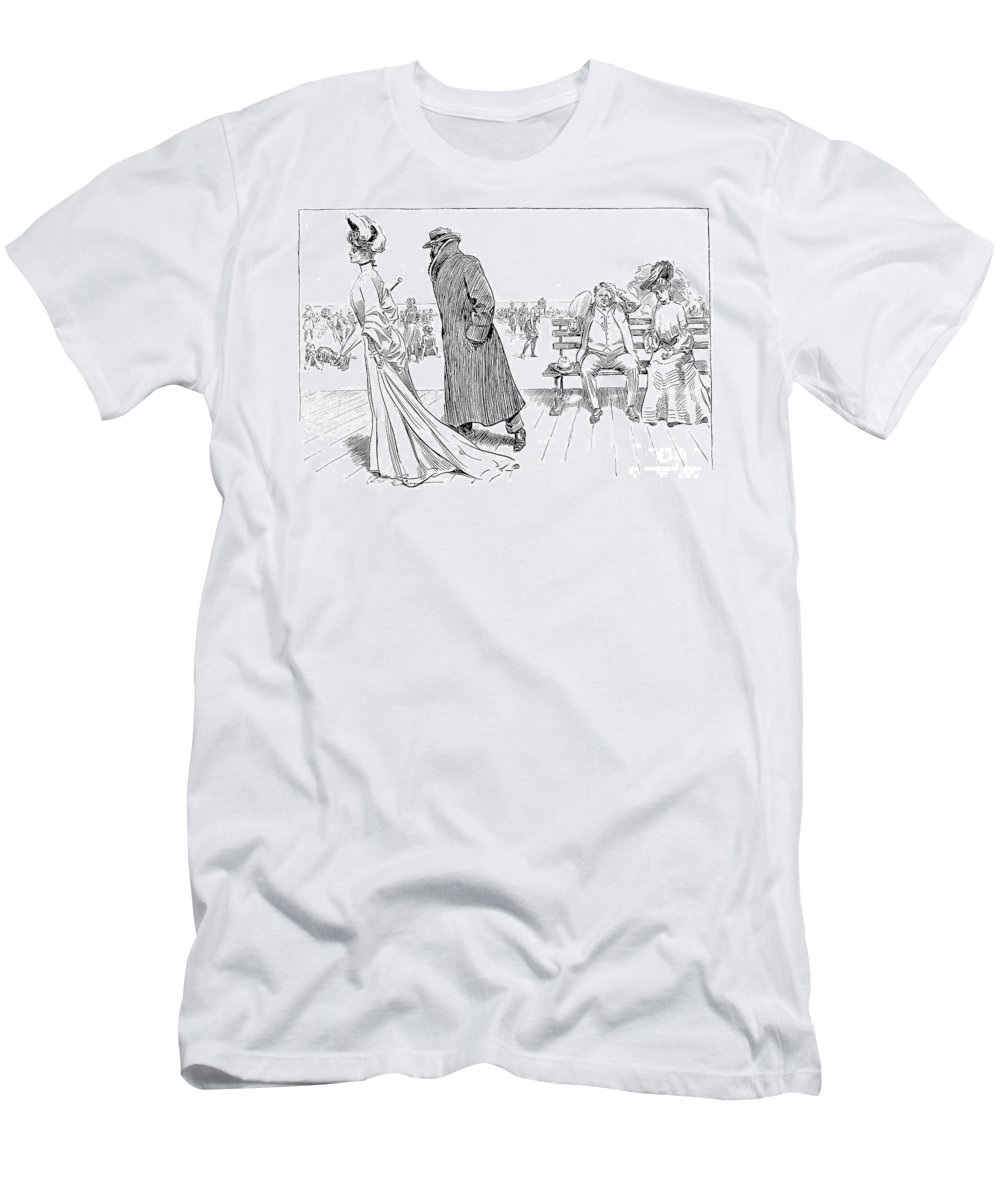 1903 Men's T-Shirt (Athletic Fit) featuring the photograph Gibson: The Weaker Sex Vi by Granger