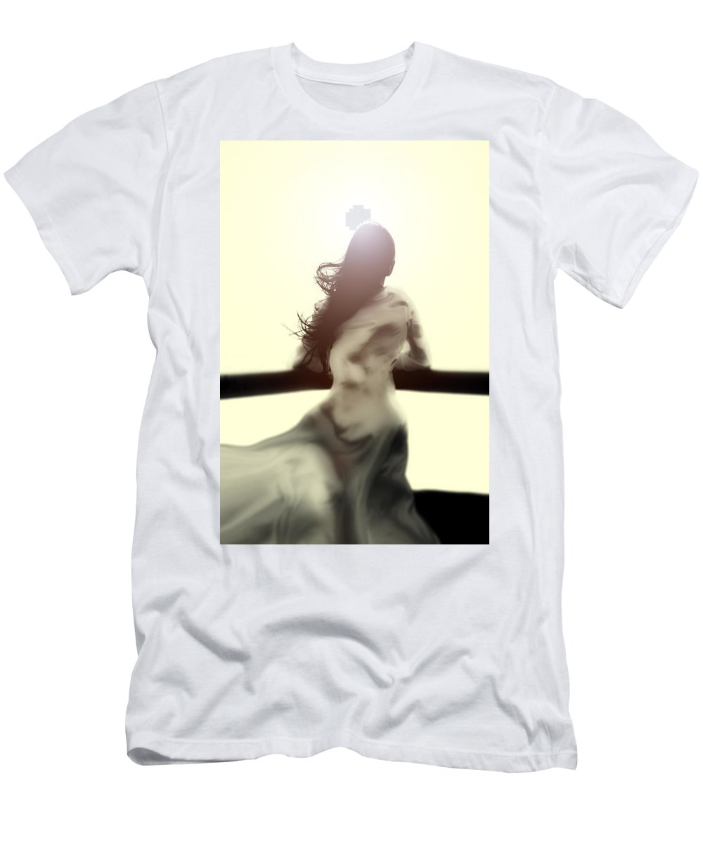 Girl Men's T-Shirt (Athletic Fit) featuring the photograph Girl In White Dress by Joana Kruse