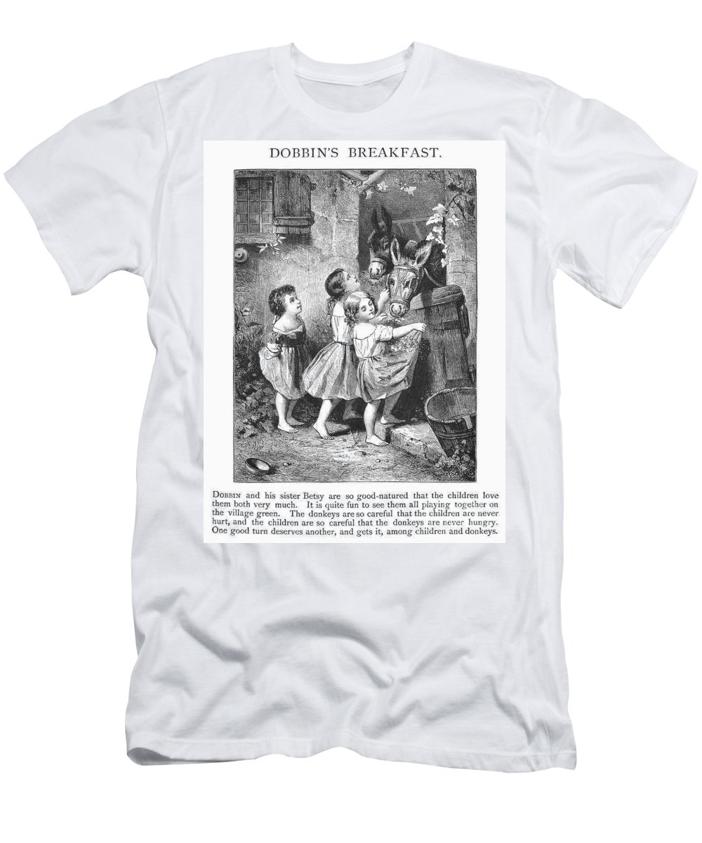 1870s Men's T-Shirt (Athletic Fit) featuring the photograph Girls And Donkeys, C1870 by Granger