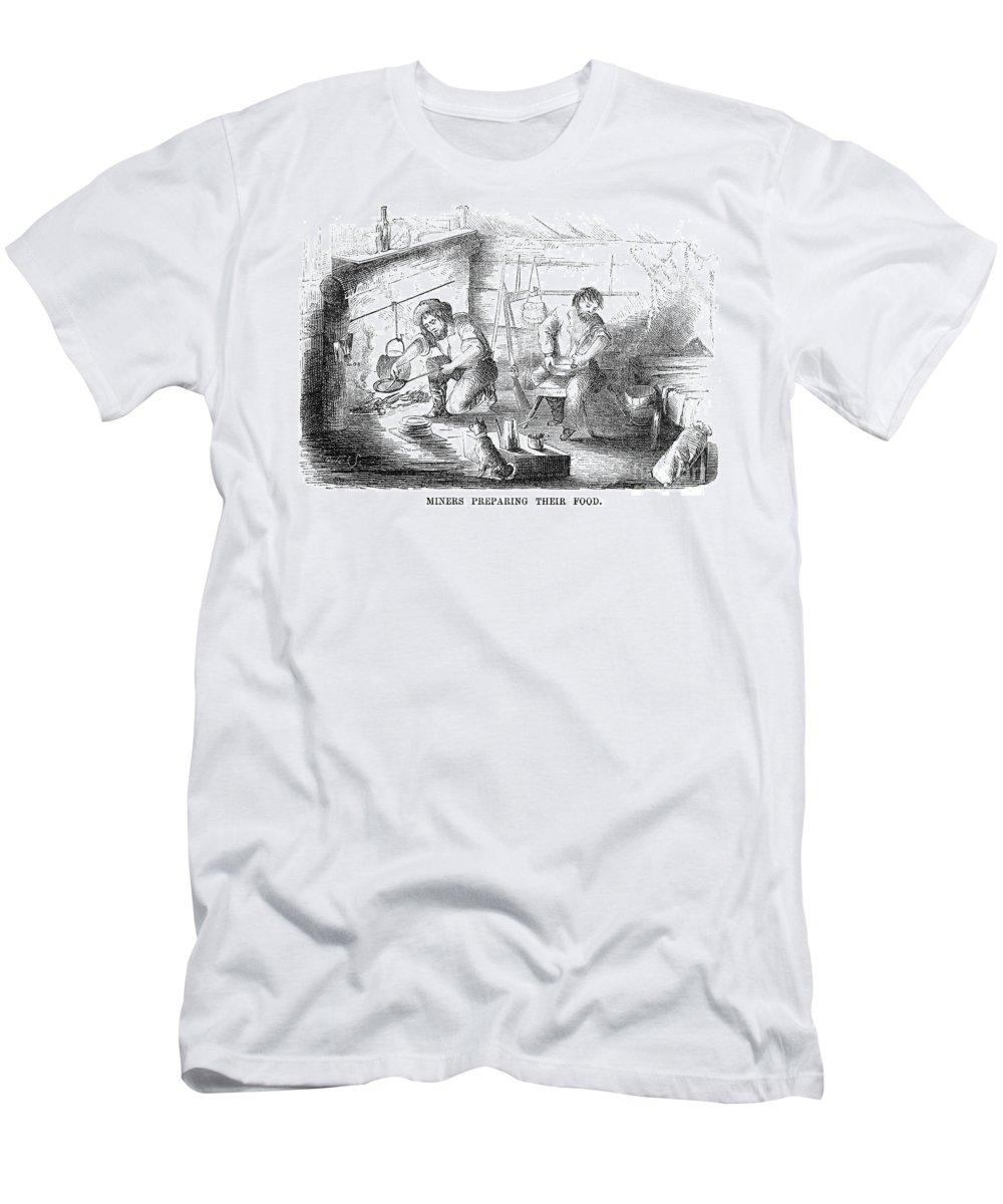 1853 Men's T-Shirt (Athletic Fit) featuring the photograph Gold Mining Camp, 1853 by Granger