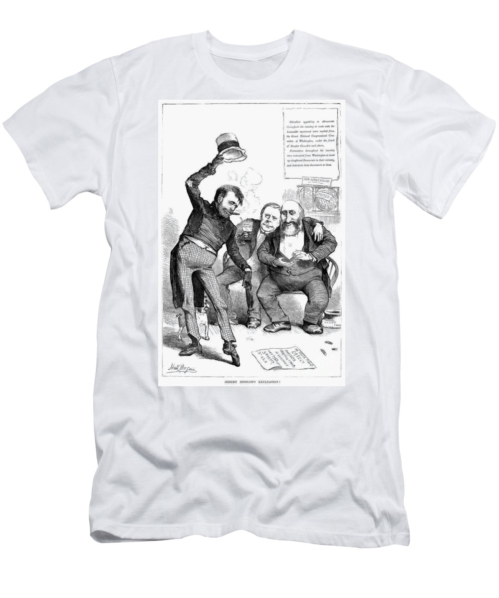 1872 Men's T-Shirt (Athletic Fit) featuring the photograph Grant/tweed Cartoon, 1872 by Granger