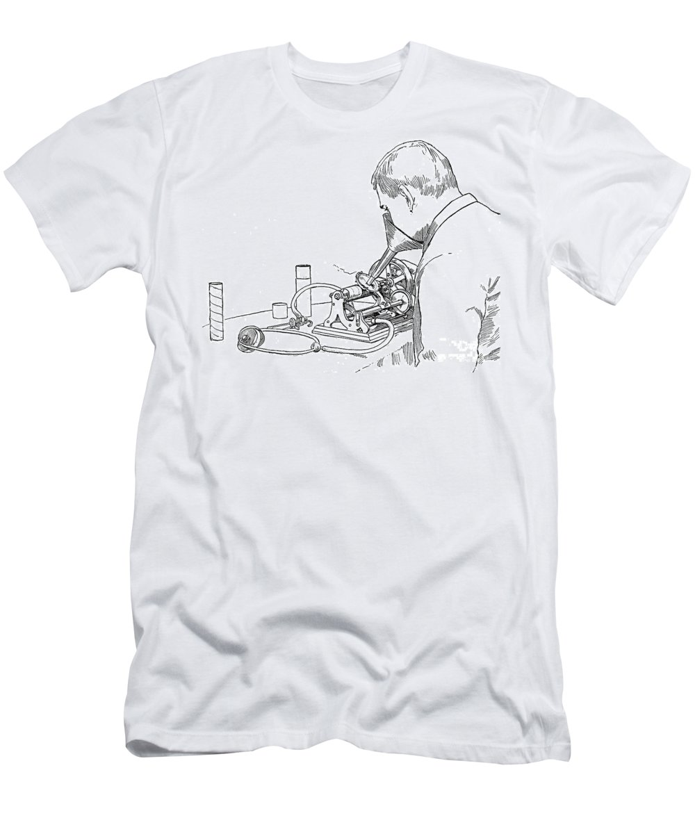 1886 Men's T-Shirt (Athletic Fit) featuring the photograph Graphophone by Granger