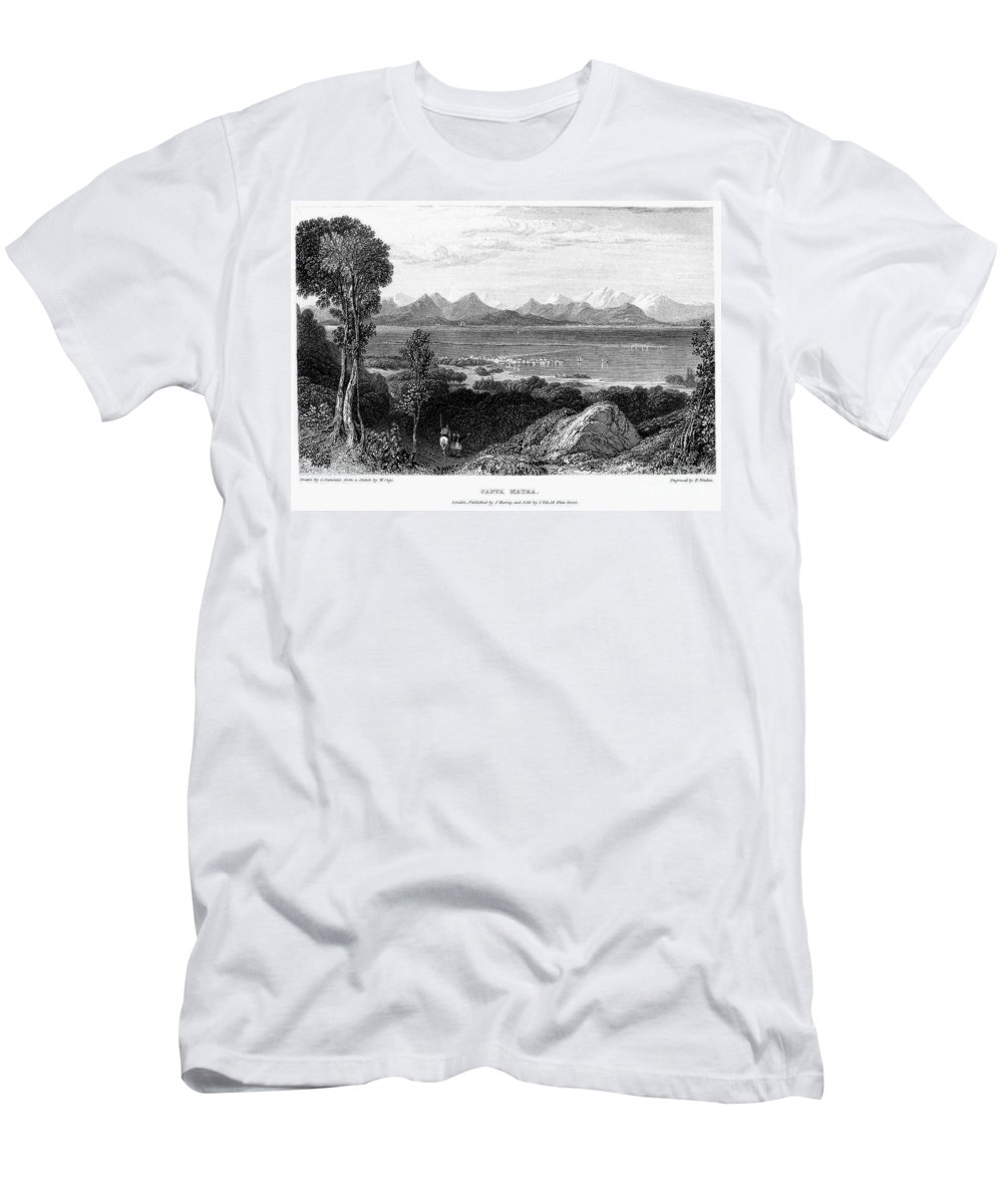 1832 Men's T-Shirt (Athletic Fit) featuring the photograph Greece: Levkas, 1832 by Granger