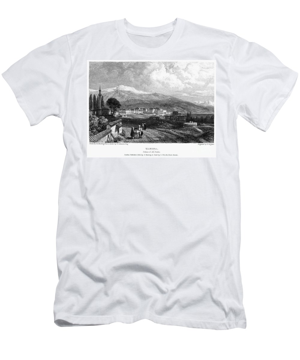 1833 Men's T-Shirt (Athletic Fit) featuring the photograph Greece: Yanina, 1833 by Granger