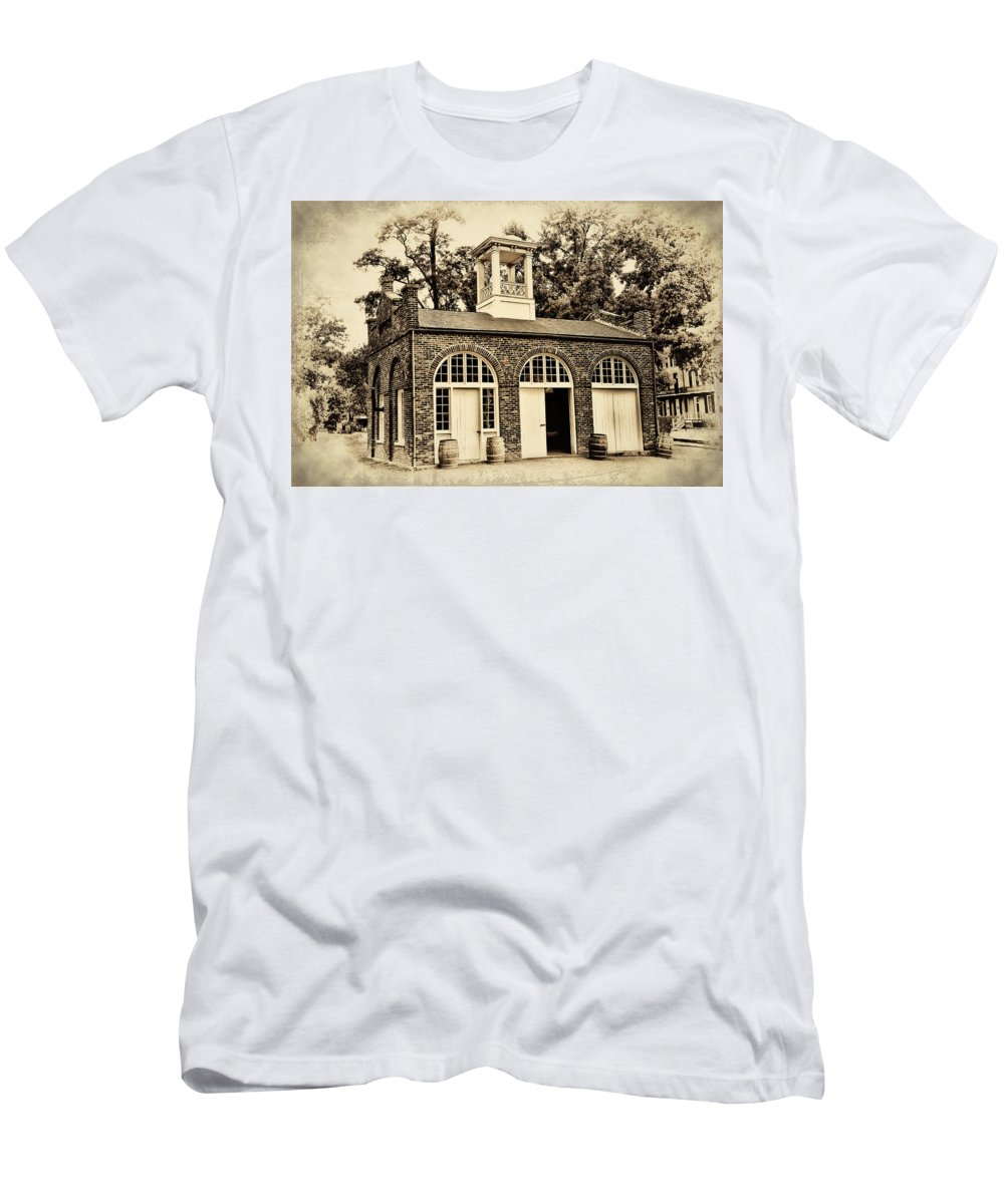 Harpers Ferry Armory Men's T-Shirt (Athletic Fit) featuring the photograph Harpers Ferry Armory by Bill Cannon