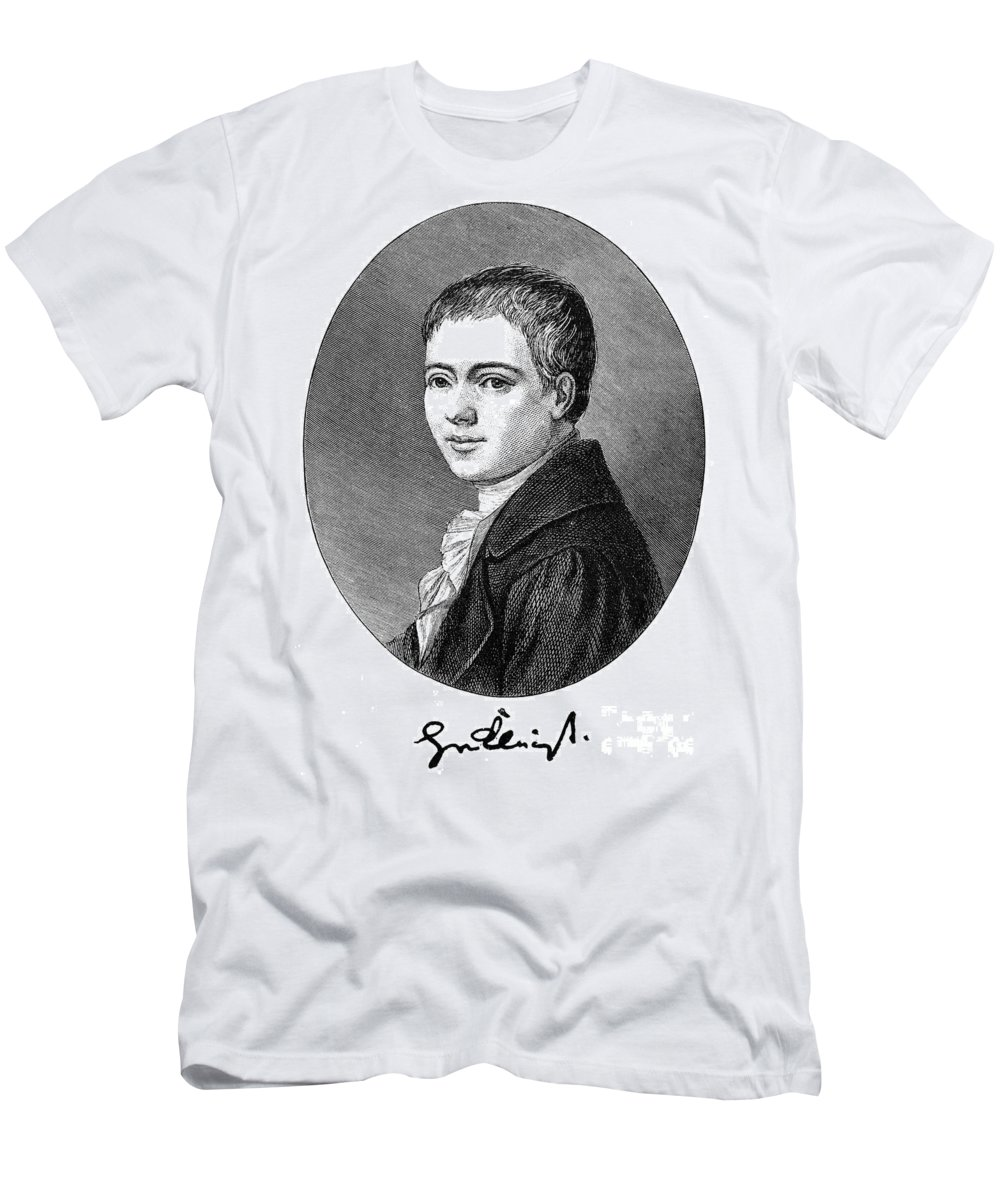 1801 Men's T-Shirt (Athletic Fit) featuring the photograph Heinrich Von Kleist by Granger