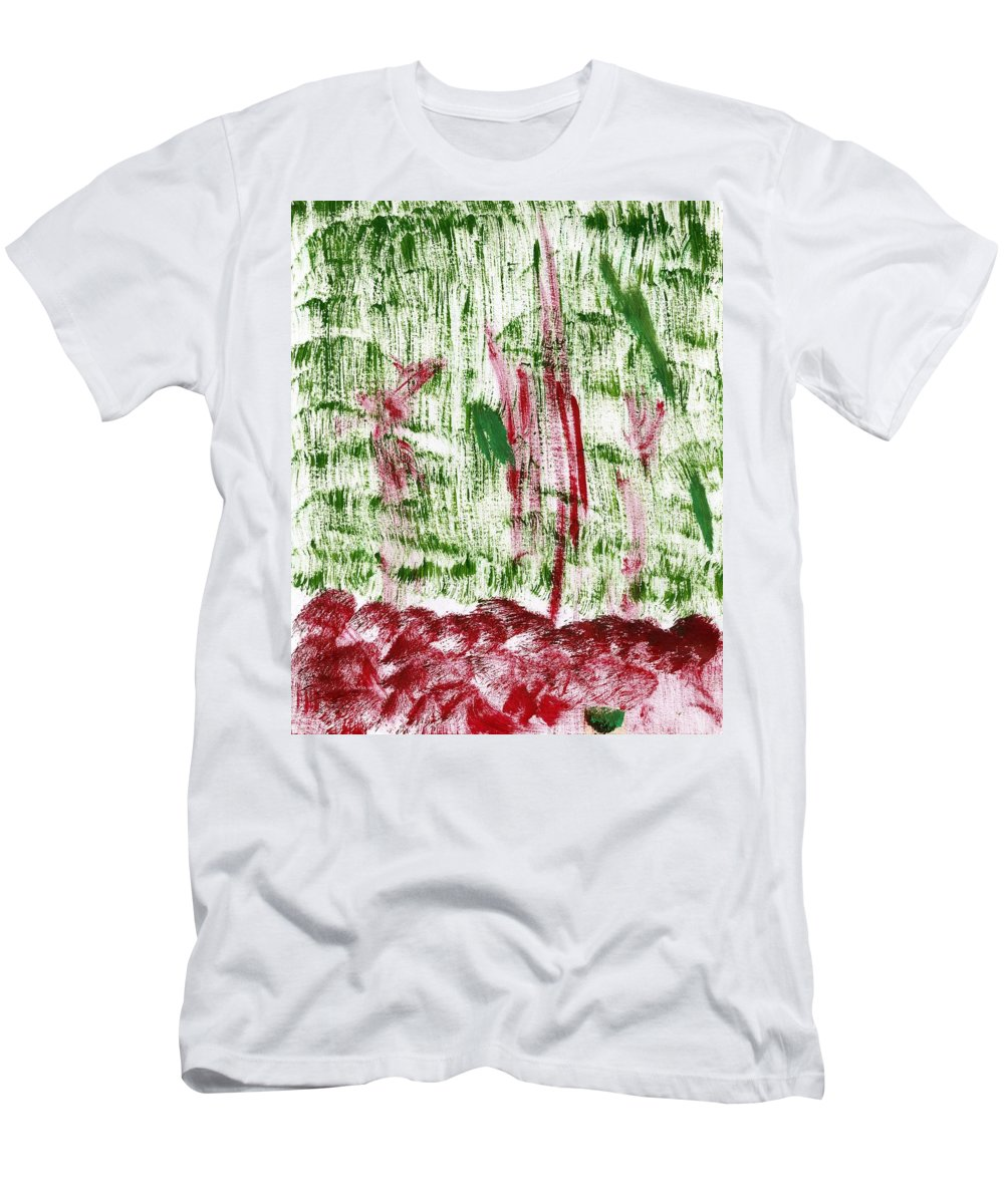 Hell's Forest Men's T-Shirt (Athletic Fit) featuring the painting Hell's Forest by Taylor Webb