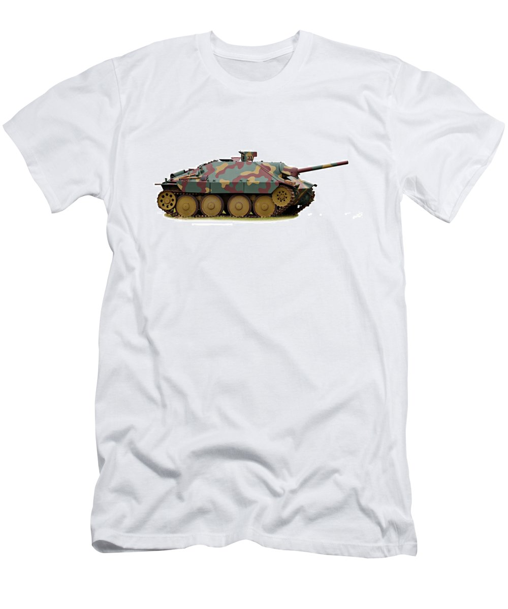 Action Men's T-Shirt (Athletic Fit) featuring the photograph Hetzer Tank Destroyer by Paul Fell