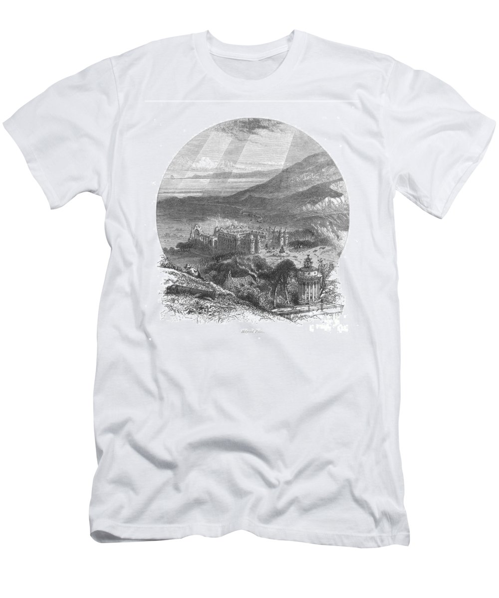 19th Century Men's T-Shirt (Athletic Fit) featuring the photograph Holyrood Palace by Granger