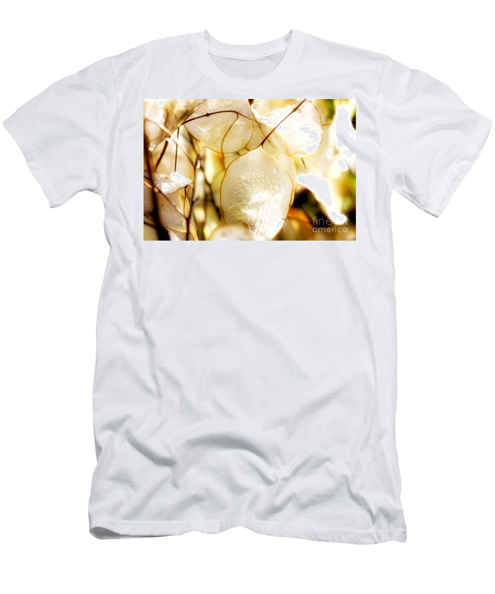 Honesty Men's T-Shirt (Athletic Fit) featuring the photograph Honesty Plants Close Up by Simon Bratt Photography LRPS
