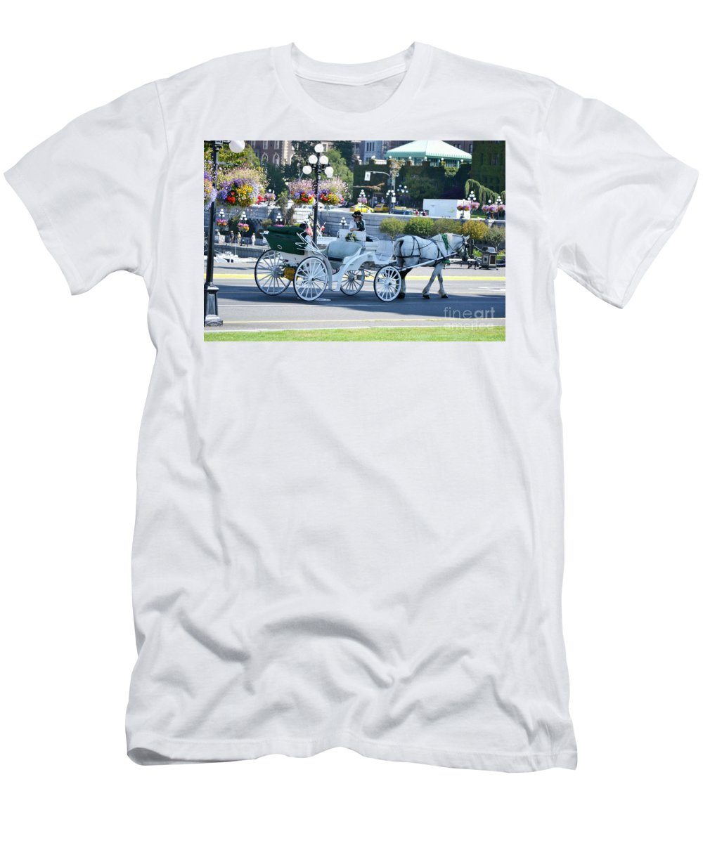 British Columbia Men's T-Shirt (Athletic Fit) featuring the photograph Horse And Buggy by Traci Cottingham