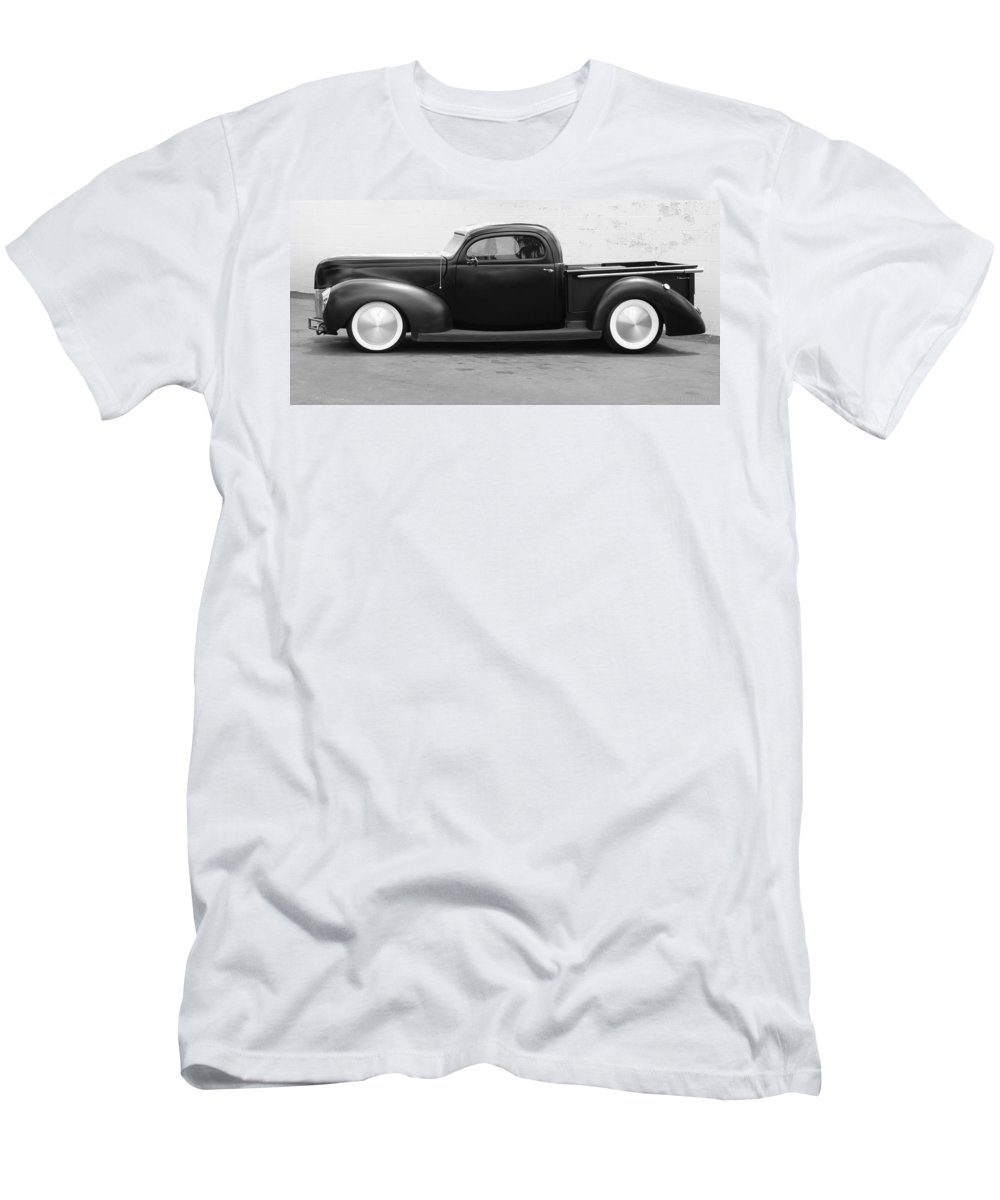 Hot Rod Men's T-Shirt (Athletic Fit) featuring the photograph Hot Rod Pickup by Rob Hans