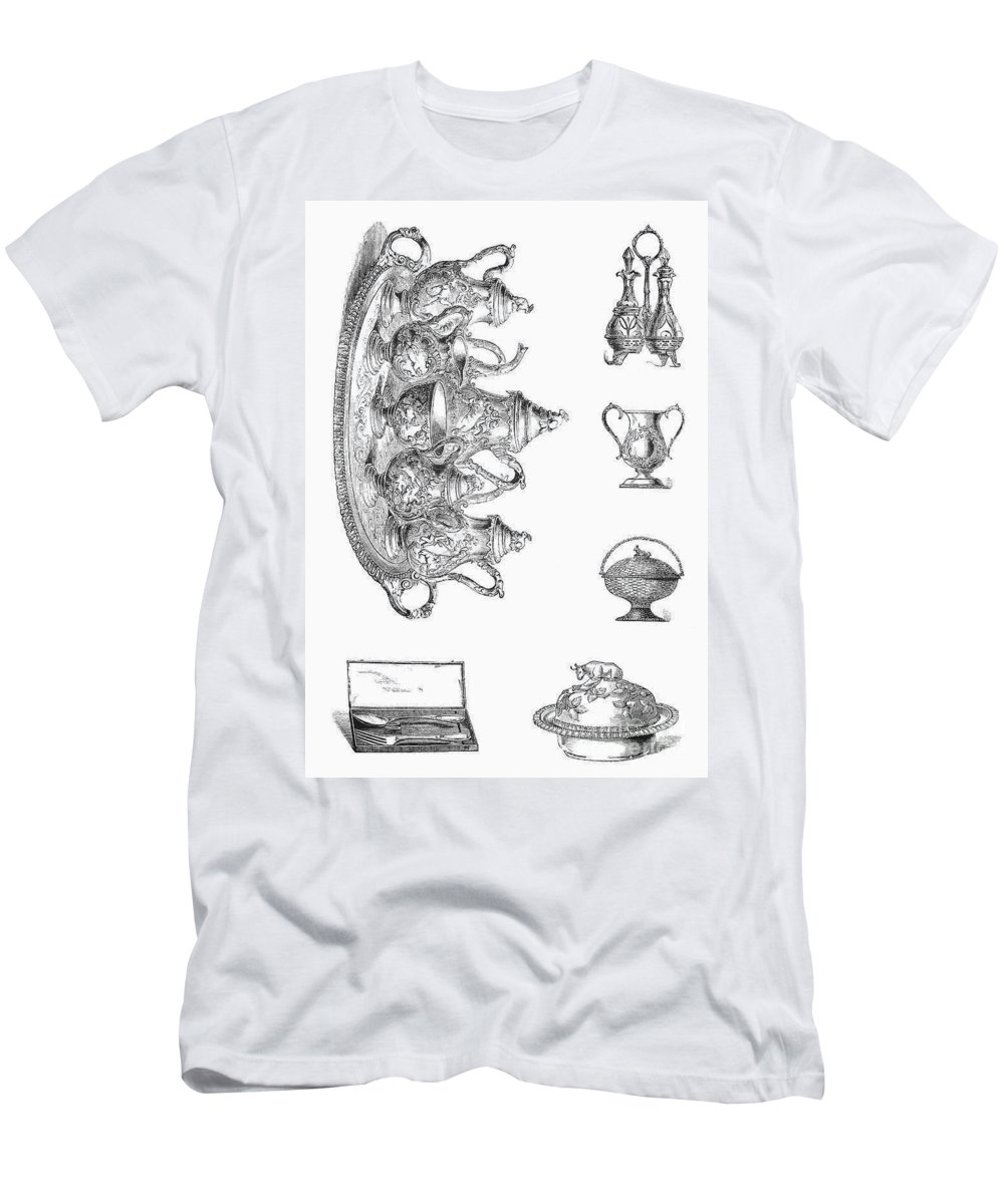 19th Century Men's T-Shirt (Athletic Fit) featuring the photograph Housewares, 19th Century by Granger