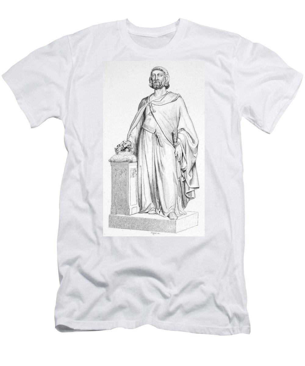10th Century Men's T-Shirt (Athletic Fit) featuring the photograph Hugh Capet (c938-996) by Granger