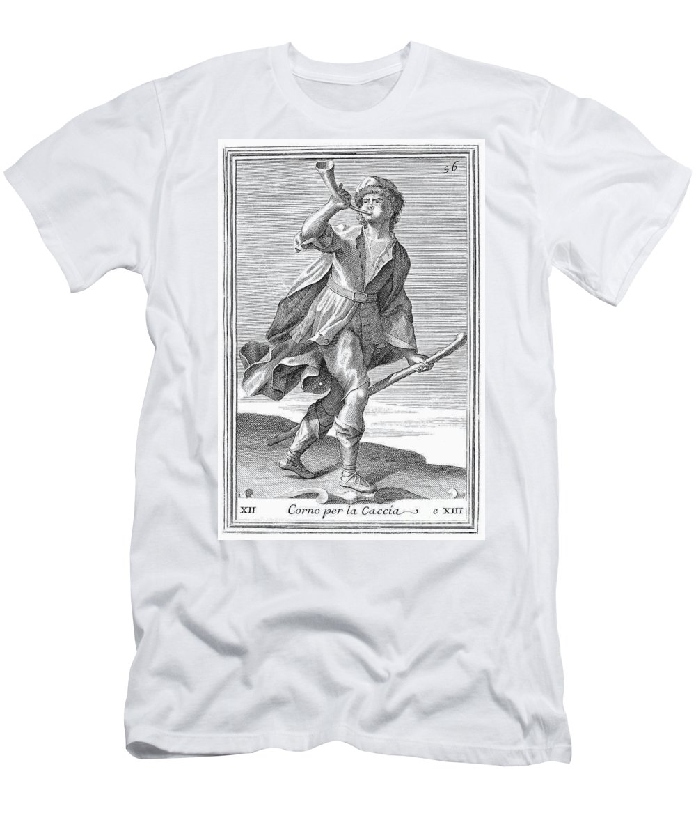 1723 Men's T-Shirt (Athletic Fit) featuring the photograph Hunting Horn, 1723 by Granger